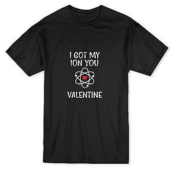 """""""Jag fick min Ion du Valentine"""" hjärta Athom mäns T-shirt"""