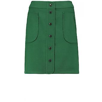 Taifun Green Front Button Detail Skirt