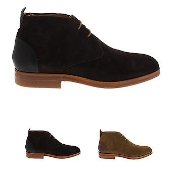 Mens H By Hudson Matteo Suede Smart Casual Office Chukka Boots Shoes