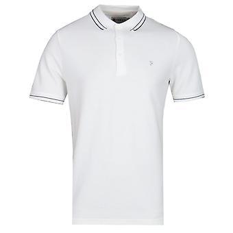 Farah GYP Honeycomb Modern Fit Off White Polo Shirt