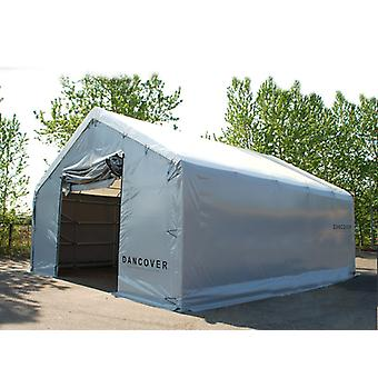 Storage shelter Titanium 7x7x2.5x4.2 m, White/Grey