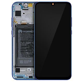 Complete Block Honor 20 Lite LCD Screen Battery 3400mAh Original Blue