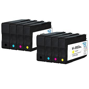2 Go Inks Compatibile Set di 4 per sostituire HP 953 Printer Ink Cartridge (8 Inchiostri) - Nero, Cyan, Magenta, Giallo Compatibile / non-OEM per Stampanti HP Officejet