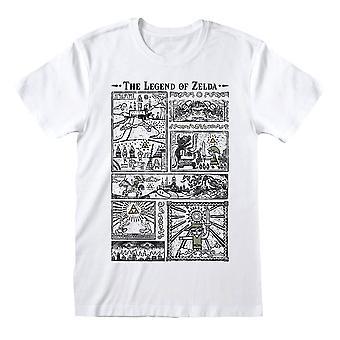 Män & apos; s Legenden om Zelda Ritningar White Crew Neck T-shirt