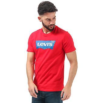 Men's Levis Housemark Logo T-Shirt in Red