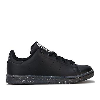 Girl's adidas Originals Childrens Stan Smith Trainers in Black