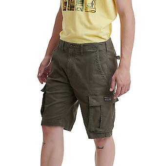 Funky Buddha Men's Cargo Shorts In Allover Print