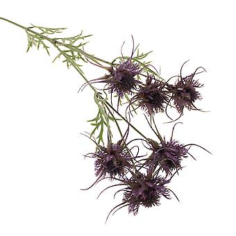 Luxury Artificial Sea Holly Floristry Spray - 80cm Tall - Sea Thistle