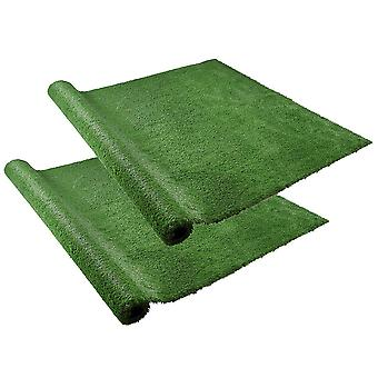 Yescom 10x6.6 ft Artificial Grass Mat Fake Lawn Pet Turf Synthetic Pet Dog Pee Pad Green Garden Outdoor Indoor Pack of 2