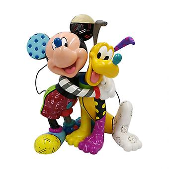 Disney Door Britto Mickey Mouse Pluto 90th Anniversary Lrg Fig