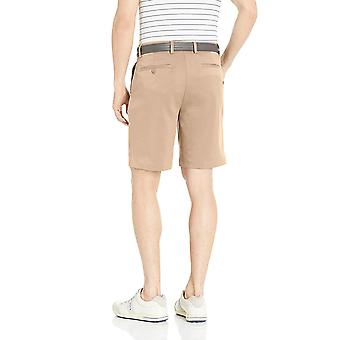 Essentials Men's Standard Classic-Fit Stretch Golf Short,, Khaki, Size 34