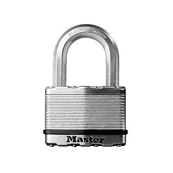 Master Lock Excell Laminated Steel 50mm Padlock - 25mm Shackle MLKM5