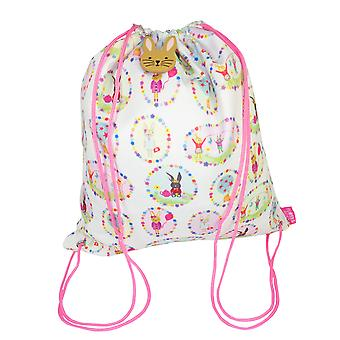 Girls bunny drawstring swim bag