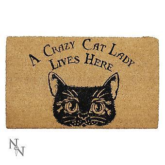 Nemesis Now Crazy Cat Lady Doormat 45x75cm
