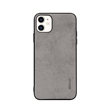 For iPhone 11 Case Fabric Texture Soft Slim Protective Fashionable Cover Grey