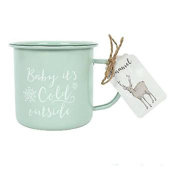 Something Different Baby Its Cold Outside Enamel Mug