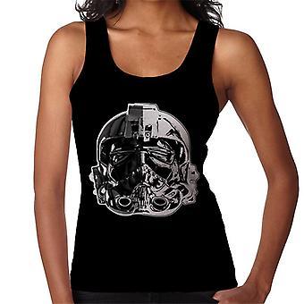 Opprinnelige Stormtrooper Imperial TIE Pilot hjelm monokrom effekt kvinners Vest