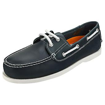 Sterling & Hunt Rio Mens Boat Shoes in Navy