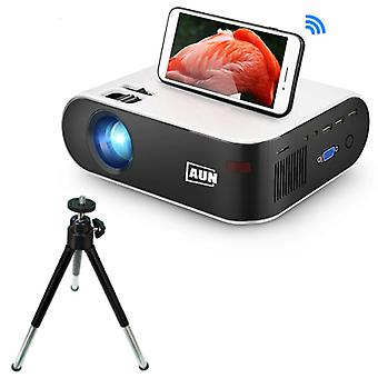 AUN W18 Mini PROIECTOR LED cu trepied - Mini Beamer Home Media Player