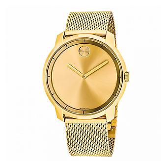 Movado Bold 3600373 Gold Dial Gold-tone Mesh Men's Watch