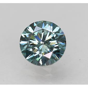 Cert 0.76 Vivid Blue VS1 Runde Brillant verbessert natürlichen Diamant 5,84 mm EX CUT