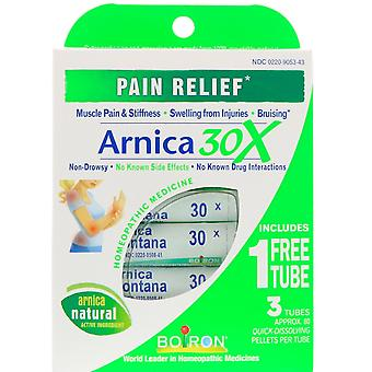 Boiron, Single Remedies, Arnica 30X, 3 Tubes, Approx. 80 Quick-Dissolving Pellet