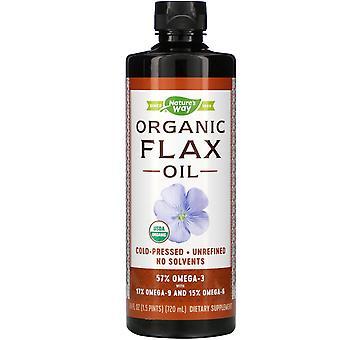 Nature's Way, Organic Flax Oil, 24 fl oz (720 ml)