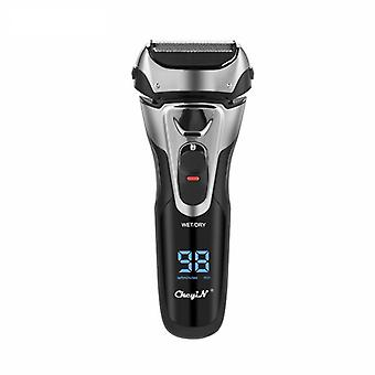 Cordless electric beard trimmer powerful hair shaver