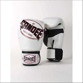 Sandee cool-tec muay thai boxing gloves - white