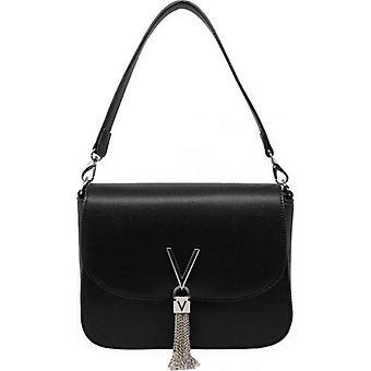 Mario Valentino Divina Over The Shoulder Tassle Logo Bag