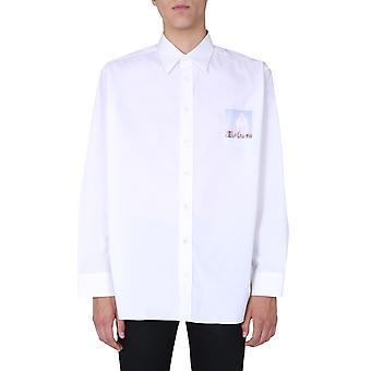 Raf Simons 2022811000700010 Chemise en coton blanc Pour hommes