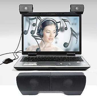 Draagbare Usb-aangedreven -twee 3d High Fidelity Stereo Soundbar Luidspreker