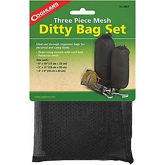 Coghlan''s Three Piece Mesh Ditty Bag Set, Drawstring Closure with Cord-Lock