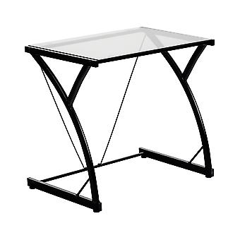 Glass Laptop Desk Computer Home Office University Student Study Z Table - Black