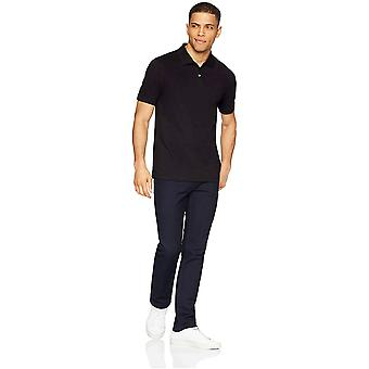 Essentials Men's Slim-Fit Cotton Pique Polo Shirt, Svart, XX-Large