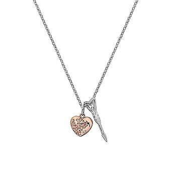 Hot Diamonds Sterling Silver Rose Gold Plate Cupid Pendant DP750