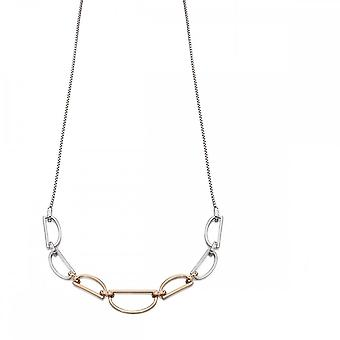 Fiorelli zilver D ring ketting N4207