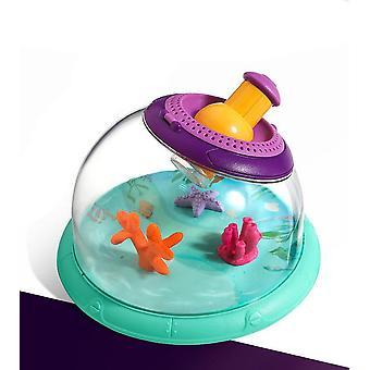 Pieni havaintokalasäiliö 5x suurennuslasilla - biologinen katsoja lelu