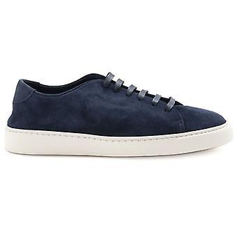 Jerold Wilton Blue Suede Sneakers