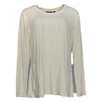 Women with Control Women's Top Weekend Chic Bamboo W/ Pockets Ivory A310887