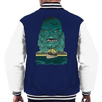 A Criatura da Lagoa Negra Demon Head Boat Men's Varsity Jacket