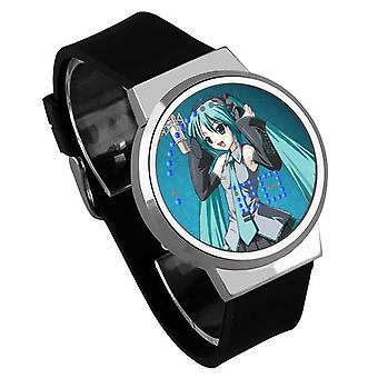 Waterproof Luminous LED Digital Touch Children watch  - Hatsune Miku #27