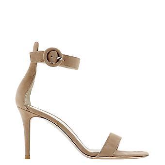 Gianvito Rossi G6095385riccampraline Women's Brown Suede Sandals