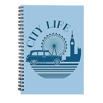 London Taxi Company City Life Spiral Anteckningsbok