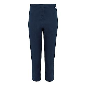 PENNY PLAIN Navy Twill Cropped Trousers