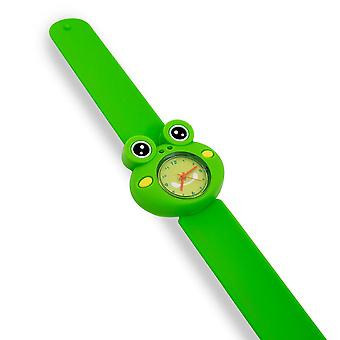 Kids Watch Girls Boys Bendable Slap Watch Silicone Cartoon Character-Frog