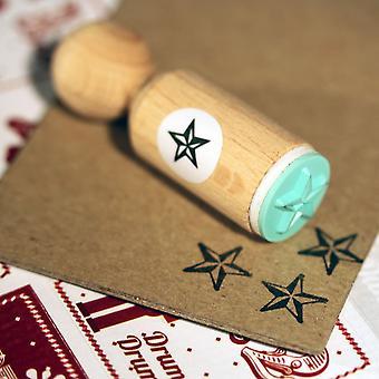 Star Rubber Stamp - VERY MINI - Christmas Crafts Xmas DIY Tags