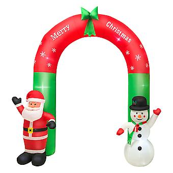 Christmas Snowman Arch Garden Tree Glowing Decorations 2.4m