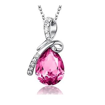 Eternal Love Teardrop Swarovski Elements Crystal riipus kaulakoru - Pink