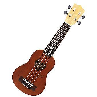 17inch Sapele Ukulele String Instruments 4 String Guitar Mini Guitar Brown